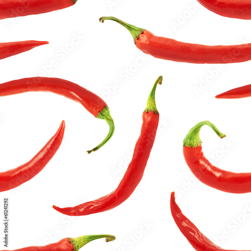 Red chili pepper seamless background