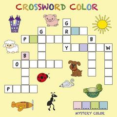 crossword color