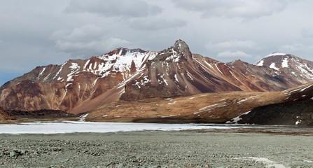 Panorama of Himalaya mountain landscape in Ladakh, North India