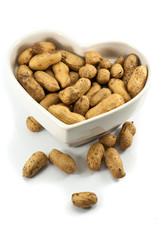Peanut dry fruit or groundnut (Arachis hypogaea) beans