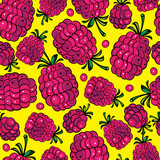 multicolor raspberry seamless pattern