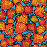multicolor strawberry seamless pattern