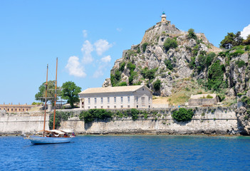 Lighthouse, Corfu, Greece, Europe