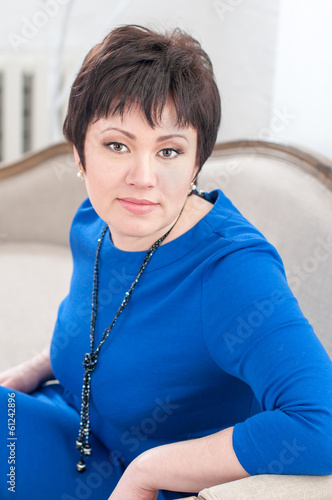 Woman in a blue dress -3