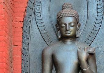 Buddhastatue, Swayambhunath / Kathmandu, Nepal