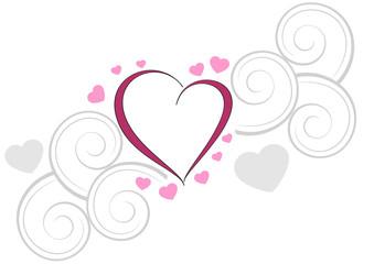 decorazione cuore e cuoricini