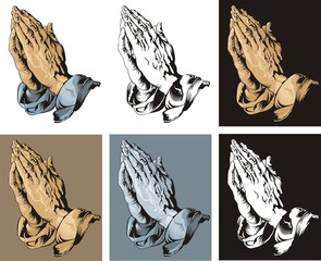 Praying Hands set