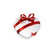 weißes Herz mit roter Schleife  © Matthias Buehner