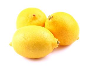 Lemons isolated on a white.