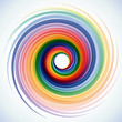 Vector Rainbow Vortex Background