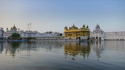 Amritsar Golden Temple sunset time lapse