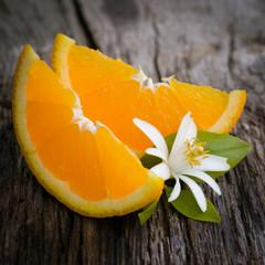 Frische Orangenecken