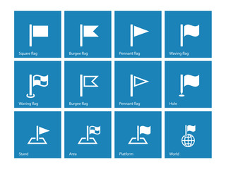 Flag icons on blue background.