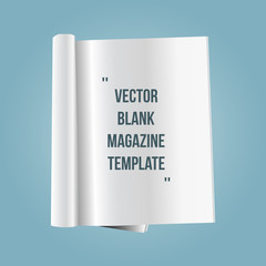 vector blank magazine page template
