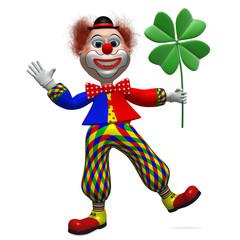 Clown mit Kleblatt