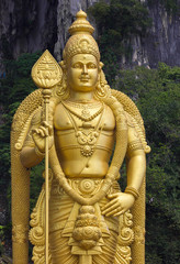 Murugan Statue on the entrance to Batu Caves near Kuala Lumpur