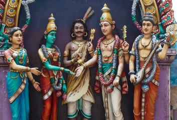 Statue of hindu gods at Batu caves, Kuala-Lumpur