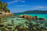 Serene view on the seaside of Perhentian Kecil Island
