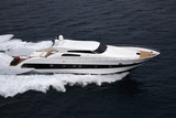 Italy, Tyrrhenian sea, luxury yacht, aerial view