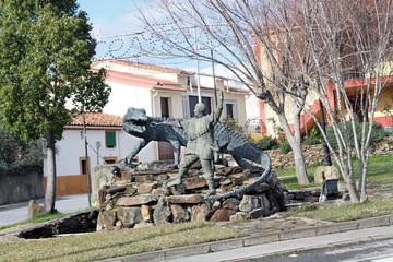 Grupo escultórico del lagarto, Calzadilla, Cáceres, España