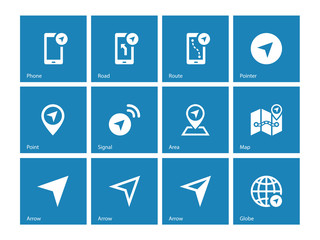 Navigator icons on blue background.
