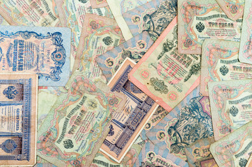 Very old Russian banknotes