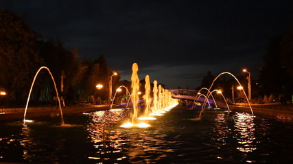 Batumi night fountain in Georgia