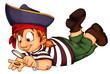 Piratin, Pirat, Kind, Mädchen, Karneval