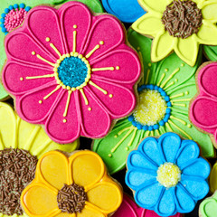 Colorful cookie background