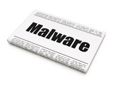 Protection concept: newspaper headline Malware