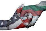 Handshake between United States and Bulgaria