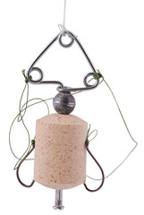 Fishing bobber, тehnoplankton bait for catching silver carp.(Cl