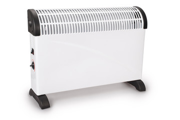 Electrical white modern heater (Clipping path)