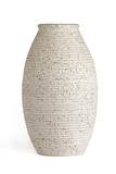 Oblong serrated edge vase