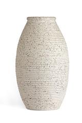 Oblong serrated edge vase