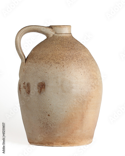 Tan and Yellow Clay Jug