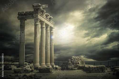 Fotobehang Oude gebouw Great Apollon Temple@Antalya