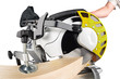 miter saw at work