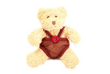 Image of gunny teddy bear in handmade clothes