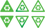 Recycling symbol as traffic sign