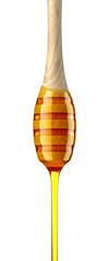 Cuillère à miel sur fond blanc 2