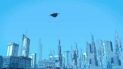Shuttle rises into the sky