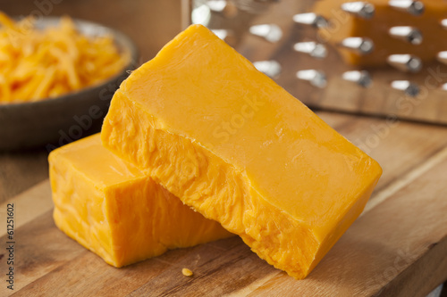 Deurstickers Zuivelproducten Organic Sharp Cheddar Cheese