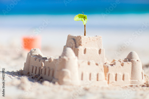 canvas print picture Sand castle