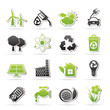 Ecology, environment and recycling icons - vector icon set
