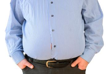 Übergewichtiger Mann im Business Outfit
