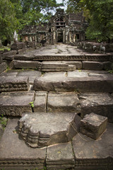 stone steps in front of ancient temple in Angkor Wat