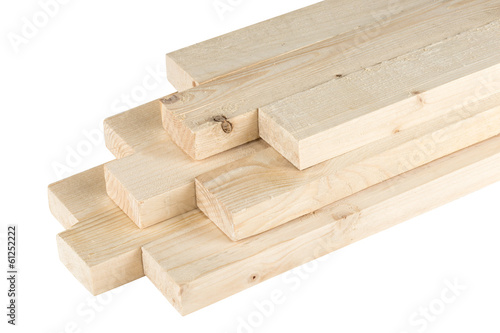 Leinwanddruck Bild stack of roof batten