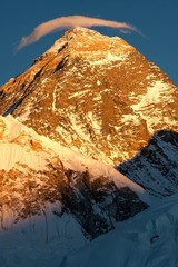 Summit of Mt. Everest at Sunset