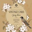 Spring elegant vector vintage card